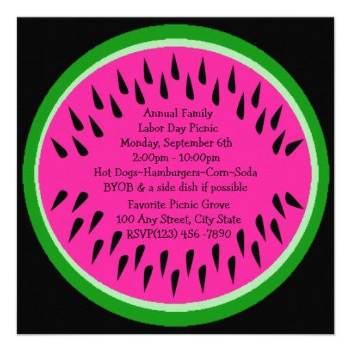 Watermelon/ Picnic Custom Invites