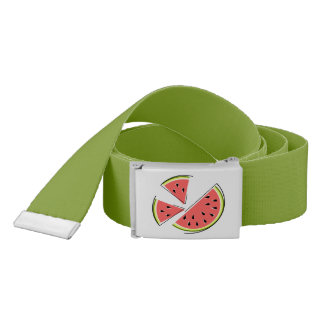 Watermelon Pieces belt dark green