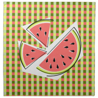 Watermelon Pieces Check napkins cloth