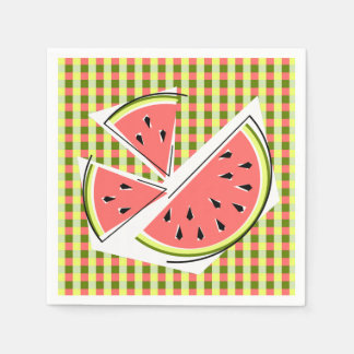 Watermelon Pieces Check napkins paper Disposable Serviettes