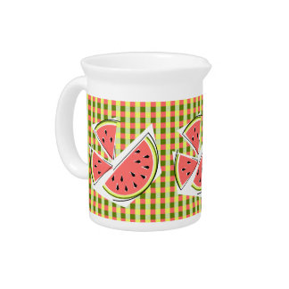 Watermelon Pieces Check pitcher