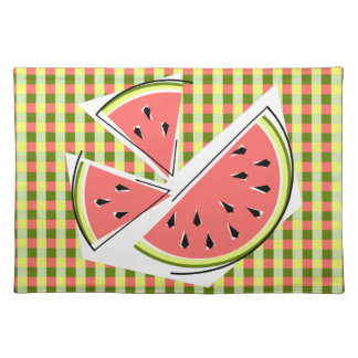 Watermelon Pieces Check placemat cloth