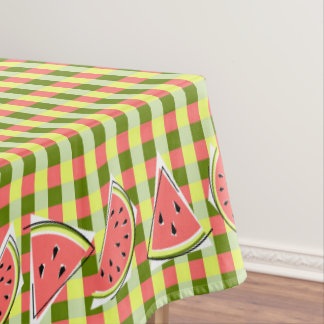 Watermelon Pieces Check tablecloth