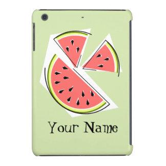 Watermelon Pieces green 'Name' iPad case