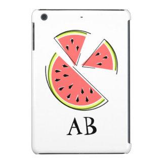 Watermelon Pieces 'Monogram' iPad Mini case