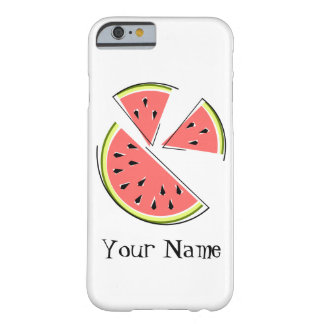 Watermelon Pieces 'Name' iPhone 6 case