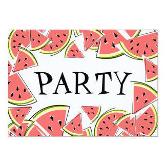 Watermelon Pieces Party invitation