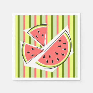 Watermelon Pieces Stripe napkins paper Disposable Serviette