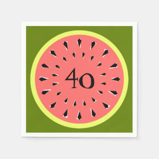 Watermelon Pink 40 Age napkins paper Paper Napkin