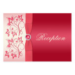 Watermelon Pink and Ivory Floral Enclosure Card