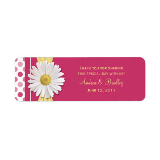 Watermelon Pink Polka Dot Favor Tags Return Address Label