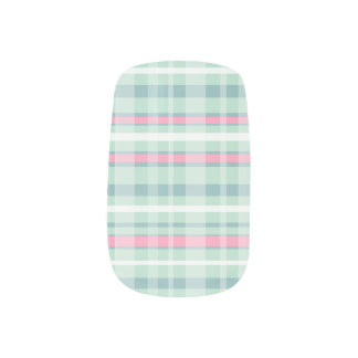 Watermelon Plaid Minx Nails Minx Nail Art