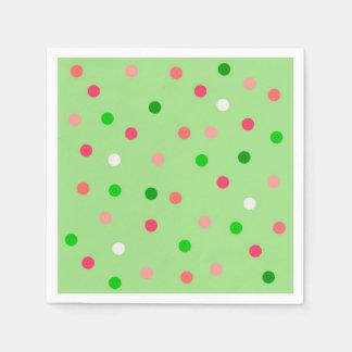 Watermelon Polka Dots Paper Napkins