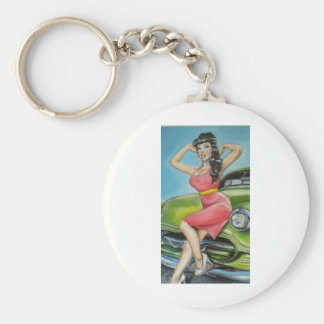 Watermelon pop candy pin up basic round button key ring