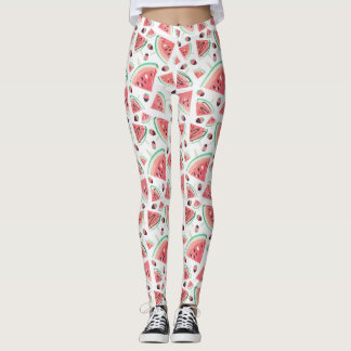 Watermelon popsicles, strawberries and chocolate leggings