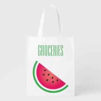 Watermelon Print Grocery Reusable Grocery Bag