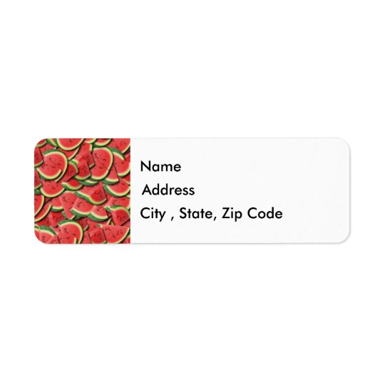 Watermelon Return Address Label