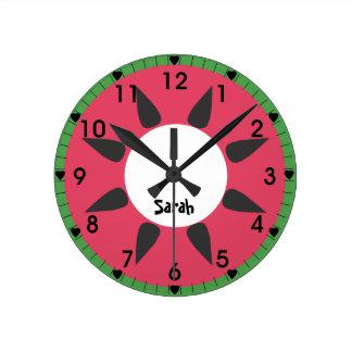 Watermelon Round Clock