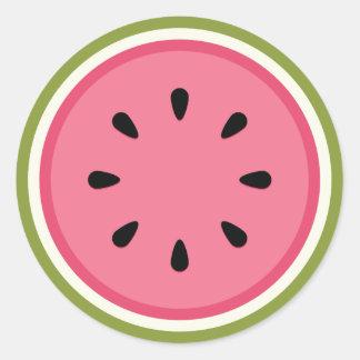 Watermelon Round Sticker