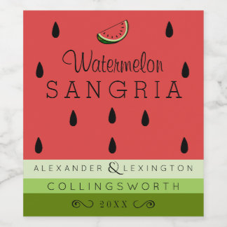 Watermelon Sangria Wine Label