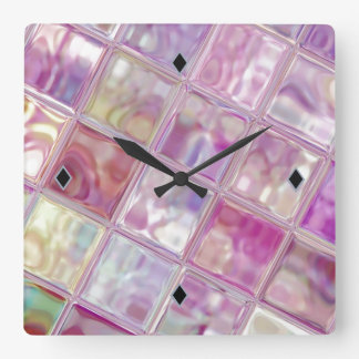 Watermelon Shimmer Digital Art Acrylic Clock