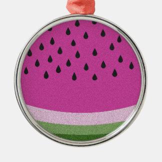 Watermelon Silver-Colored Round Decoration