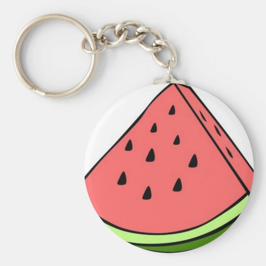 watermelon_simple.jpg basic round button key ring