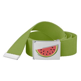 Watermelon Slice belt dark green