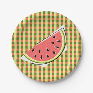 Watermelon Slice Check paper plates