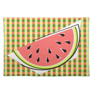 Watermelon Slice Check placemat cloth