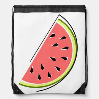 Watermelon slice drawstring backpack