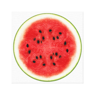Watermelon Slice Fruit Art Canvas Print