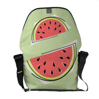 Watermelon Slice Green messenger bag medium