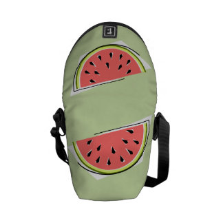 Watermelon Slice green messenger bag mini