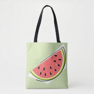 Watermelon Slice Green  tote bag