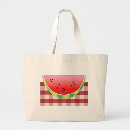 Watermelon Slice Large Tote Bag