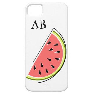 Watermelon Slice 'Monogram' iPhone 5 case