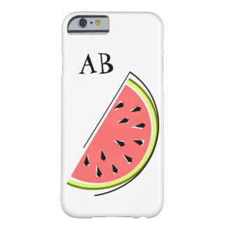 Watermelon Slice 'Monogram' iPhone 6 case Barely There iPhone 6 Case