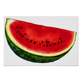 Watermelon Slice Poster