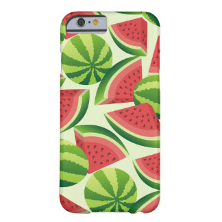 Watermelon slice seamless background barely there iPhone 6 case