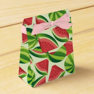 Watermelon slice seamless background party favour boxes