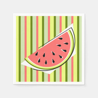 Watermelon Slice Stripe napkins paper Disposable Napkin