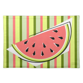 Watermelon Slice Stripe placemat cloth