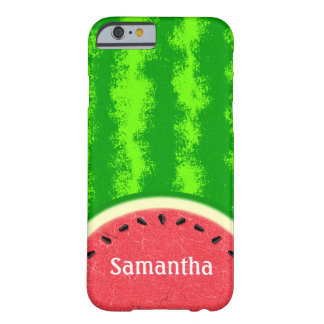 Watermelon Slice Summer Fruit Personalized Cute Barely There iPhone 6 Case