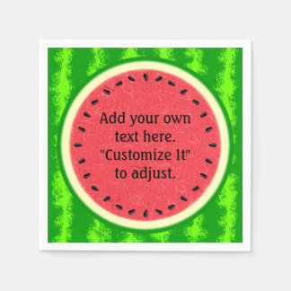 Watermelon Slice Summer Fruit Personalized Paper Napkin