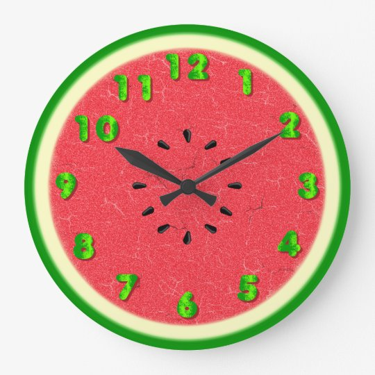 Watermelon Slice Summer Fruit Wall Clock