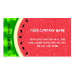 Watermelon Slice Summer Fruit with Rind Pack Of Standard Business Cards