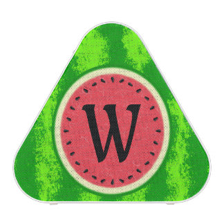 Watermelon Slice Summer Fruit with Rind Monogram Speaker