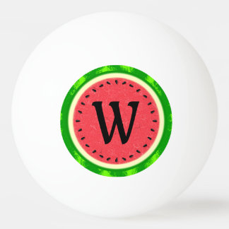 Watermelon Slice Summer Fruit with Rind Monogram Ping Pong Ball