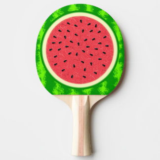 Watermelon Slice Summer Fruit with Rind Ping Pong Paddle